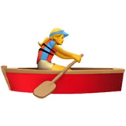 Rameuse Dans Une Barque