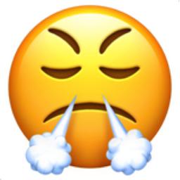 Visage Avec Fumée Sortant Des Narines