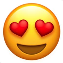 😍 Emoji Visage Souriant Avec Yeux En Forme De Cœur - EmojiFrance